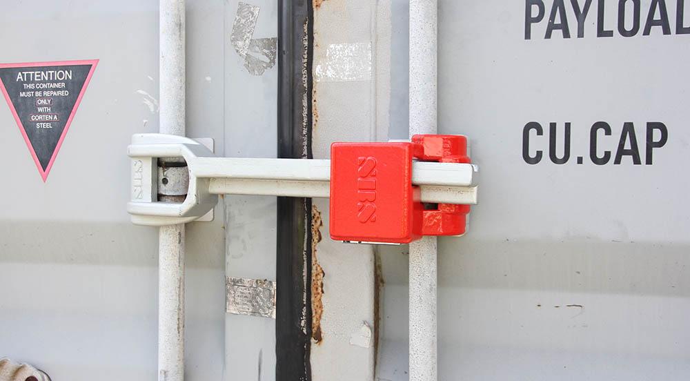 Container afgesloten met slot